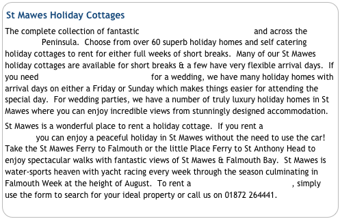 St Mawes Holiday Cottages